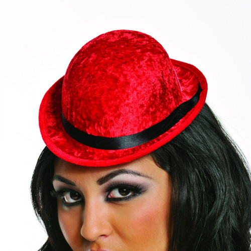 nouvelle collection Site officiel meilleur chapeau-Derby-Burlesque-rouge-red