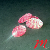 Perles Cabochons - Oval Rose