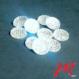Perles small Cabochons - Rond Cristal