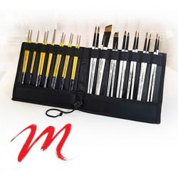 Case and brush holder - V-Elastic